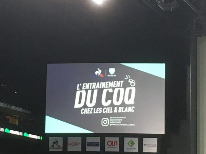 Entraînement sportif à la Paris Défense Arena